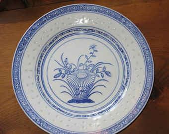 Large Chinese Export Porcelain Charger with Underglaze Canton Blue and White decoration