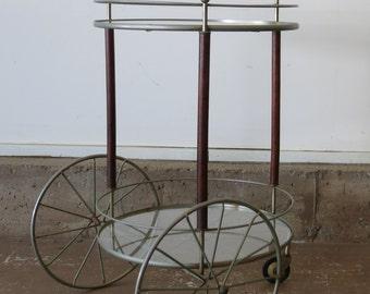 Vintage Mid Century Modern Bar Cart Tea Cart