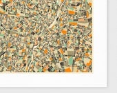 MUNICH, GERMANY Map, Giclee Fine Art Print, Modern Wall Art for the Home Decor