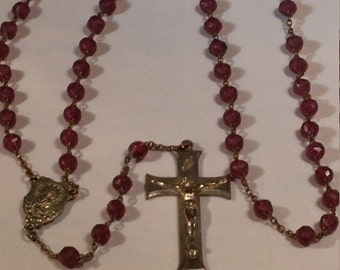 Vintage mid century Lucite Rosary Beads