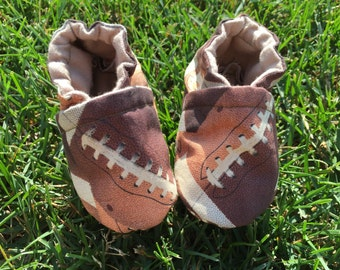 Football Baby Shoes Crib Slippers Soft Sole Booties