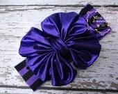Halloween Sparkle Head wrap- Girl Turban-Baby Boho headband- Halloween Bow - Black and Purple Headband- Black Head wrap