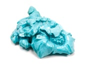 HUGE Carved Persian Turquoise Floral Flower Loose 107cts