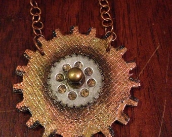 Steampunk Necklace, Gears, watch, metallic jewelry, Cyber Punk, StateMent Necklace, Craft Jewelry