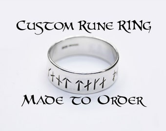 Custom Rune Ring in Sterling Silver