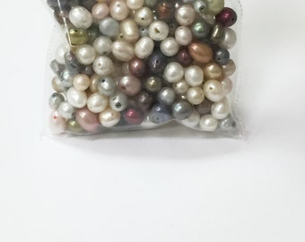 Loose Freshwater Pearls in Assorted Shapes and Sizes (Assorted color)