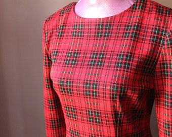 Vintage 90s Red Plaid Dress by All That Jazz
