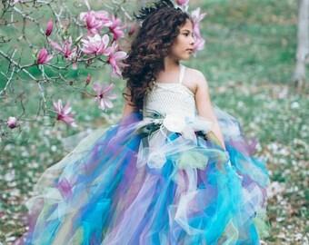 Peacock Flower Girl Dress