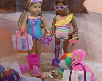 Deluxe Beach Gear with Color Choices for American Girl Dolls