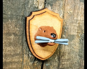 Beaver Taxidermy Magnet