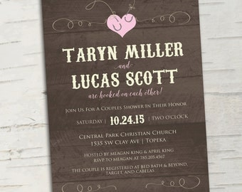 They're Hooked: Fishing Bridal Shower Invitation