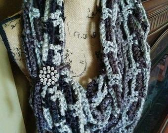 Long Crochet Infinity Scarf