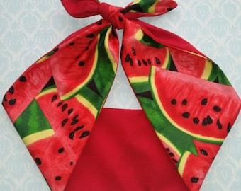melon fruit 50s style bandana, rockabilly pin up psychobilly  hairband headband