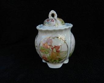 Cookie Jar: Porcelain Hand Painted