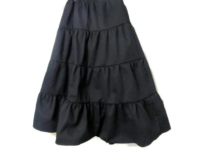 Girl's Black skirt Black Skirt Girls long skirt