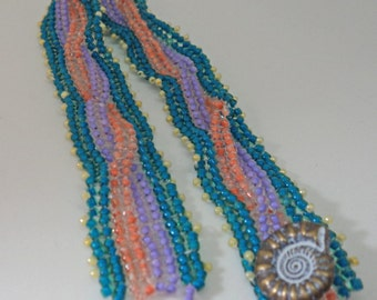 Braided Peyote Stitched Bracelet