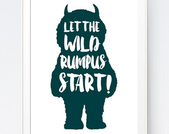 Rare image with regard to let the wild rumpus start printable