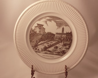 Wedgwood China Plate - The Capitol and The Steps of St. Mary In Aracoeli Veduta delRomano Campidoglio