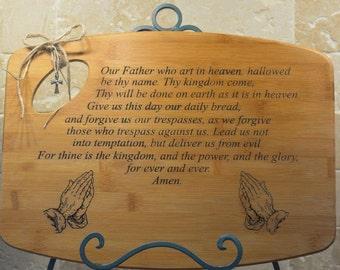 Lords Prayer Cutting Board