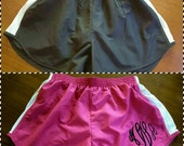 Sale- Super cute running shorts with 3 letter monogram only 10.00