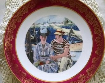 Edouard Manet Art -  L'Argenteuil Porcelain Plate