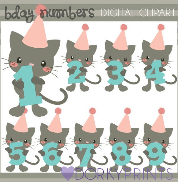 clipart birthday numbers - photo #32