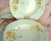 Vintage Wedding Soup Bowls Johnson Bros. England Semi-Porcelain Yellow Rose on Ivory Set of 4 Vintage Bridal Shower
