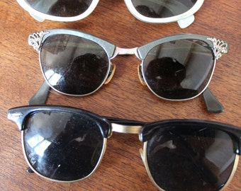 Lot of 3 Pairs Vintage Sunglasses