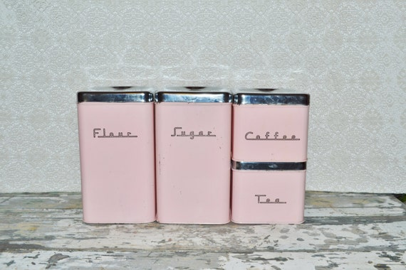vintage pink canisters stacking canister set kitchen vintage pink canister set plastic canisters retro kitchen