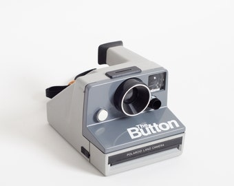 Vintage Polaroid THE BUTTON Sx-70 Instant Land Camera, Gray (Working)