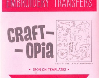 Modern Hand Embroidery Pattern | Sublime Stitching Craftopia Iron On Transfer Pattern - Sewing Knitting Crafting Embroidery Designs