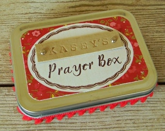 Personalized Prayer Box - Classy Red