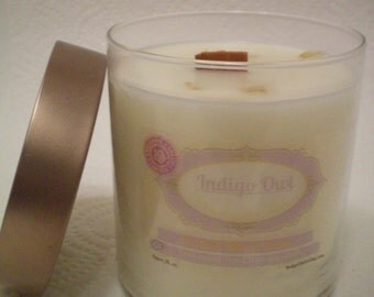 Limited Edition /  oatmeal, milk and honey / soy wax / wood wick 16 ounce candle.