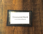 Business Card Size - Leather Wallet for Scripture Memory Cards