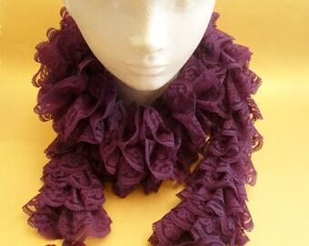 Sassy fabric ruffle scarf