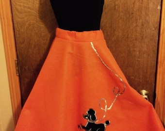 Orange poodle skirt