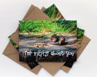 Funny Greeting Card - I'm Nuts About You - Romantic Valentine's Day I Love You Card