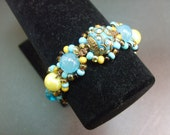 Turquoise Bohemian Chic Beaded Bracelet by MICH RICH (Bohemian Wrapsody Collection)