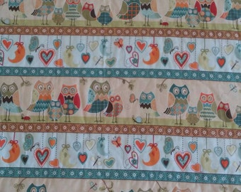 Baby Blanket/Minky/ Owls/ Hearts and Moon/ Minky Baby Blanket