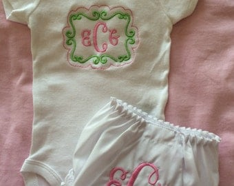 Baby Girl Onesie and diaper cover set