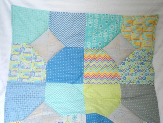 baby play mat padded floor blanket personalize blue green gray