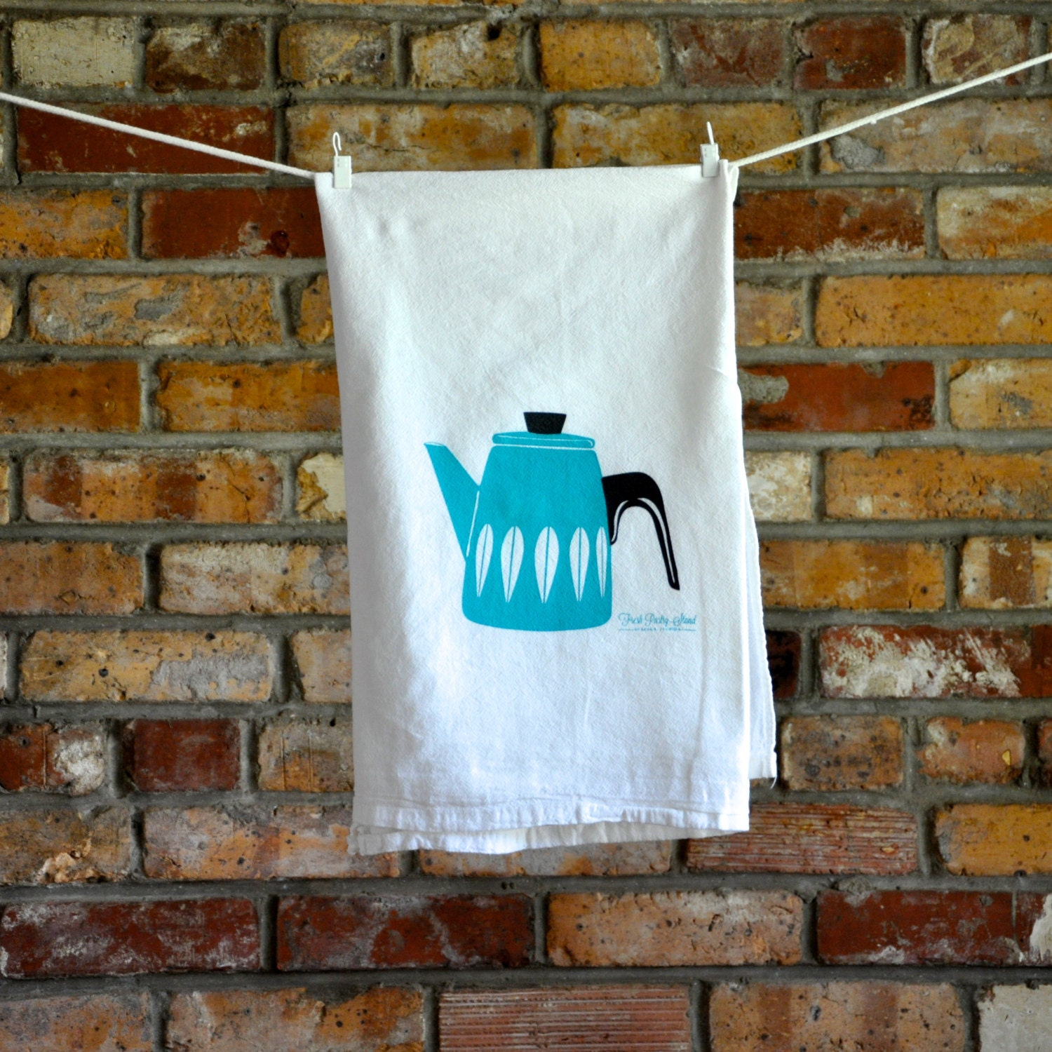 Catherineholm Lotus Coffee Pot Tea Towel: By Freshpastrystand