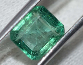 2.2 Carats Natural Zambia Emerald 7x8mm Size Emerald cut (Octagon) Shape Em001