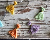 Tassel Wine Charms: Set of Eight