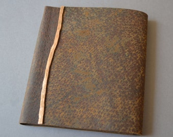 Distressed Leather Notebook Thin Line Planner Art Sketchbook (503B)
