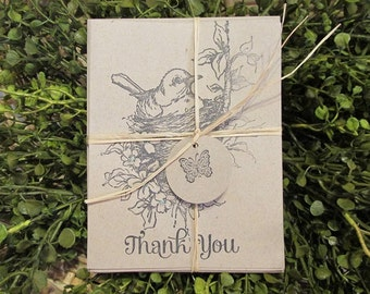 Bird Nest Note Cards - FREE SHIPPING