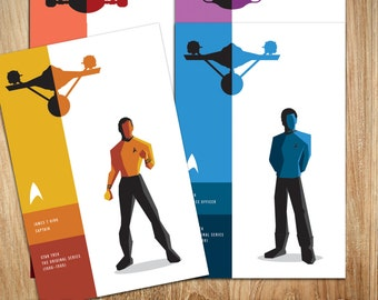 Star Trek - Pick ANY 9 Characters - POSTCARD SIZE - 6 x 4 inches