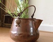 Vintage Antique Pot Vase Jar Bowl Copper with lion ornaments