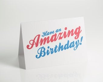 Amazing Typography Birthday Card