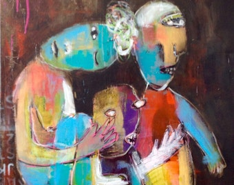 Abstract Art/Painting of Family